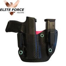 Fits Springfield HELLCAT 9MM Gun Mag Combo IWB ~CARBON FIBER & PINK~
