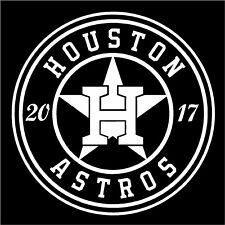 1 - Houston Astros decal sticker -- 2017 -- Buy 2 Get 1 FREE -- Fast Free Ship