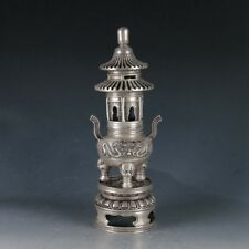 CHINESE SILVERING COPPER PAGODA INCENSE BURNER MADE DURING QIANLONG PERIOD