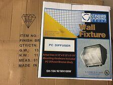 Standard Lighting Bronze Wall Pack SH-10-A-W/MH100W includes 100 Watt Bulb