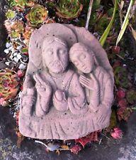 Hände m Kind Massiv B.13cm handgefertigt aus Beton Garten Steinfigur Figur Neu