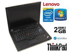 Cheap Student Lenovo Thinkpad T400 2GB RAM 160GB HDD Windows 7 Laptop Grade B
