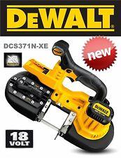 NEW GENUINE DEWALT 18V LI-ION XR CORDLESS COMPACT BANDSAW (BARE) DCS371N RRP$399