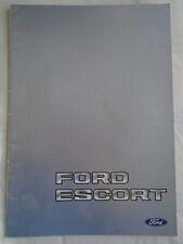 Ford Escort Export range brochure May 1983 English text
