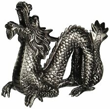 StealStreet New Chinese Dragon Collectible Pewter Cone Incense Burner,