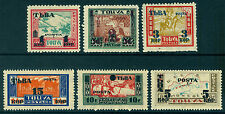 TANNU TUVA (Russia) 1932 PICTORIALS SURCHARGED set  Sc# 29-34 mint MH