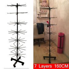 7 Tier Display Stand Rotating Adjustable Rack Shop Display Jewelery Bag Hanger