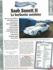 Saab Sonett II 3 Cyl./V4 Ford 1967 Sweden Suede Car Auto Retro FICHE FRANCE