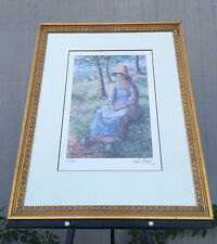 H. Claude Pissarro Serigraph Limited Hand Signed Numbered Isaac Pomié 31 x 25