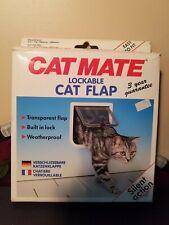 CAT MATE LOCKABLE CAT FLAP 304W (White) Weatherproof Silent Action CAT DOOR NEW!