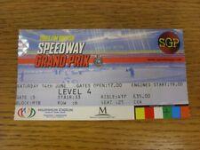 14/06/2003 Ticket: Speedway, FIM British Grand Prix [At Millennium Stadium Cardi