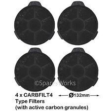 4 X Carbonio Carbone SFIATO filtri per Designair CATA 320 Cappa 02859394 CARBFILT4