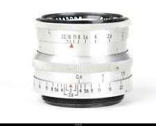 Lens Zeiss Aluminium  Biotar 2//5,8cm  Red T  No.3345095 for Contax S Pentax M42