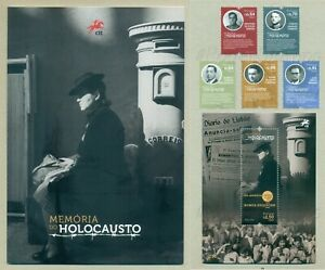 PORTUGAL 2021 HOLOCAUST MEMORY * 5 STAMPS + 1 BLOCK + BROCHURE MNH