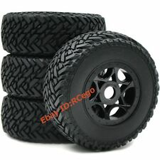4pc RC 1:8 Short Course Tires Tyre Hex 17mm wheels For RC 1/8 Buggy Off Road Car