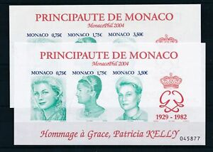 [21531] Monaco 2004 2x good imperforated sheet very fine MNH