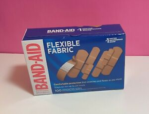 BAND-AID 100-Count Flexible Fabric Adhesive Bandages (Assorted Sizes)