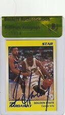 TIM HARDAWAY Signed 1990-91 STAR CO. Card #7 w/ Beckett Authenticity Seal