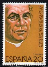 España estampillada sin montar o nunca montada 1989 SG3034 100th aniversario de la Fundación de las escuelas Ave Maria