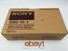 Genuine Sony Dsg 10 Display Signal Generator With Power Supply