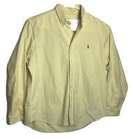 "Men's Ralph Lauren Polo ""The Big Oxford"" Long Sleeve Shirt Size XL Yellow"