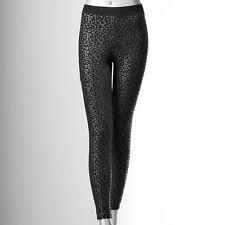 SIMPLY VERA WANG C/ANIMAL PRINT cotton legging size M # BLACK@ $19.99 & FREE SH