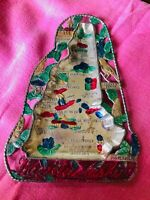 Vintage NEW HAMPSHIRE MAP Tray Multicolored Metal Souvenir Japan Hand Painted