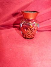 7215. Kleine Andenken Glas Vase  -  Königswinter / Drachenfels  -  Echt Gold