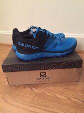 Salomon Mens Trailster Indigo Bunting/Black/Indigo Hiking Shoes Size 11.5 New