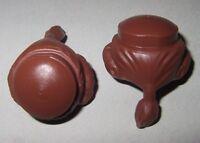 Zopf orangebraun 2x Haare 00281 Asiate