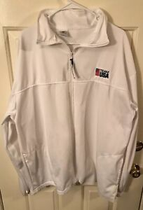Official Team USA 3XL White Full Zip Track Jacket Olympics
