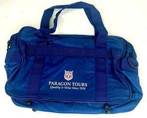 Paragon Tours Travel Duffle Bag Mens Navy Blue Medium Carry Along Adjustable New