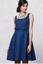 New Anthropologie Beau V-Back Dress Size 6 Navy Blue, NIP 5 star Reviews
