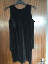 Topshop Robe noir avec dos ouvert et Froid Épaule Taille 6
