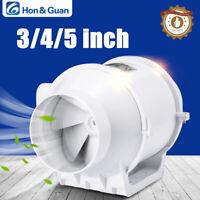 """3""""-5"""" Inline Duct Fan Hydroponic Vetilation Blower Grow Extractor/ Bathroom Fan"""