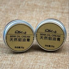 Leather Craft DIY Pure Mink Oil Cream Net Weight 30g For Leather Maintenance