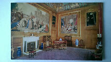 Windsor Castle Queen's Chamber Vintage Raphael Tuck colour postcard c1930s