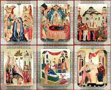 Feast Day Icon Set - 13 Large Russian Icons of the Liturgical Year - Hardboard