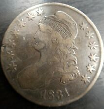 1831 Capped Bust Half Dollar 50C, Very Fine VF almost XF
