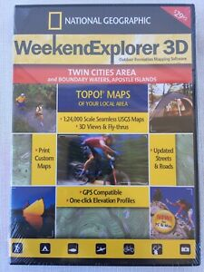 2007 National Geographic TOPO! Outdoor Mapping Software - Twin Cities Area