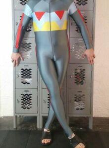Spandex Speedsuit Full Body Ski Skinsuit By SPORTFUL Silver Lycra Sz Small
