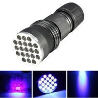 UV Ultra Violet 21 LED Flashlight Blacklight Aluminum Torch Light outdoor Lamp
