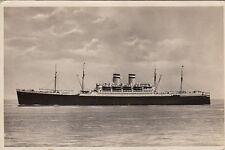 Postcard Rppc Ship Deutschland Hamburg Amerika Line