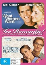 Wedding Planner & What Women Want .2 X DISCS..Mel Gibson R4..NEW & SEALED D3615