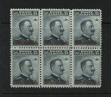 Italy -Turkey  20  Mint NH block  of  6  catalog $120.00