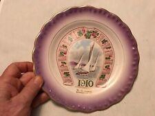 1910 W. G. EABY Vintage Calendar Plate, Bareville, Pennsylvania