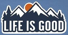 "NEW LIFE IS GOOD 4"" STICKER DECAL HIKING OUTDOOR...DIE CUT MOUNTAINS!!"