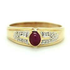 Ring Rubin Diamanten 585er 14kt Gelbgold