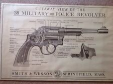 Rare SMITH AND WESSON Cutaway View Of 38 Military And Police Revolver