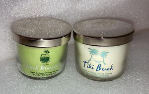 Bath & Body Works 2 Mini Candle Set TIKI BEACH ISLAND MARGARITA New